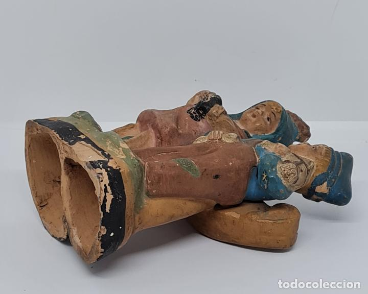 Arte: MUY BONITA PAREJA DE NIÑOS POLICROMADOS EN TERRACOTA,S. XIX-XX - Foto 5 - 261152385