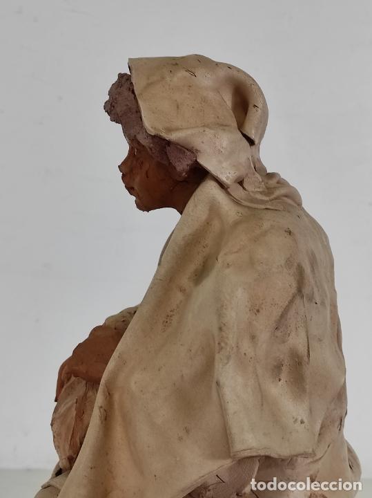 Arte: Francesco Musso (Caltagirone, Sicilia 1942) - Figura Terracota - Foto 13 - 261551065