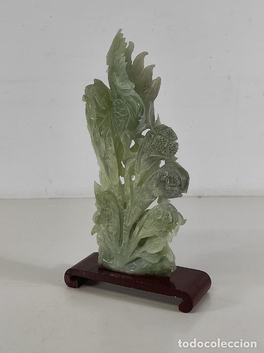 Arte: Bonita Escultura - Talla en Jade - Peana de Madera - Altura - 36 cm - Foto 10 - 261563155