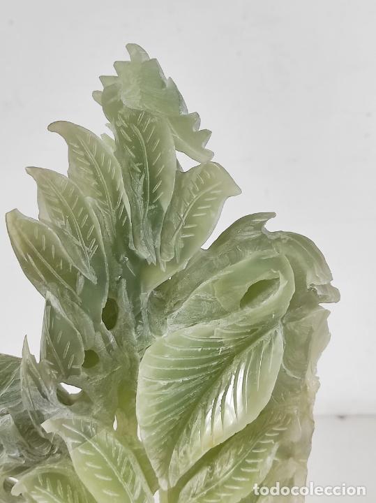 Arte: Bonita Escultura - Talla en Jade - Peana de Madera - Altura - 36 cm - Foto 19 - 261563155