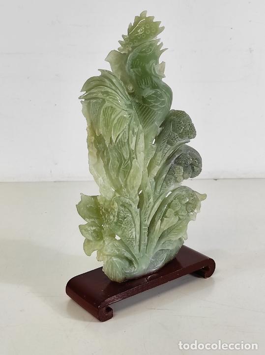 Arte: Bonita Escultura - Talla en Jade - Peana de Madera - Altura - 36 cm - Foto 22 - 261563155