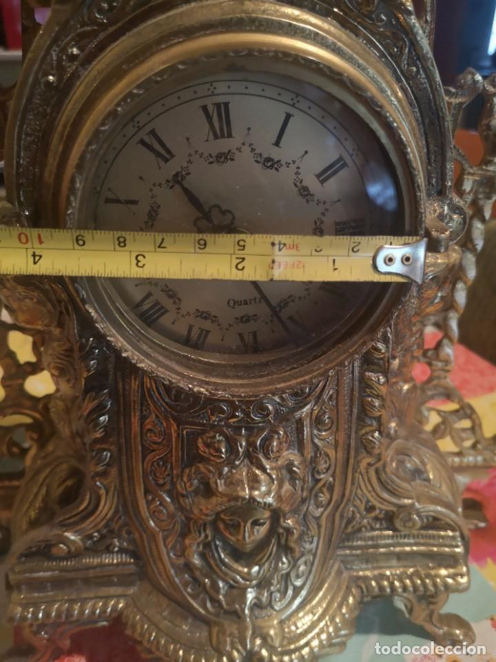 Arte: Reloj y candelabro de bronce - Foto 15 - 157829318