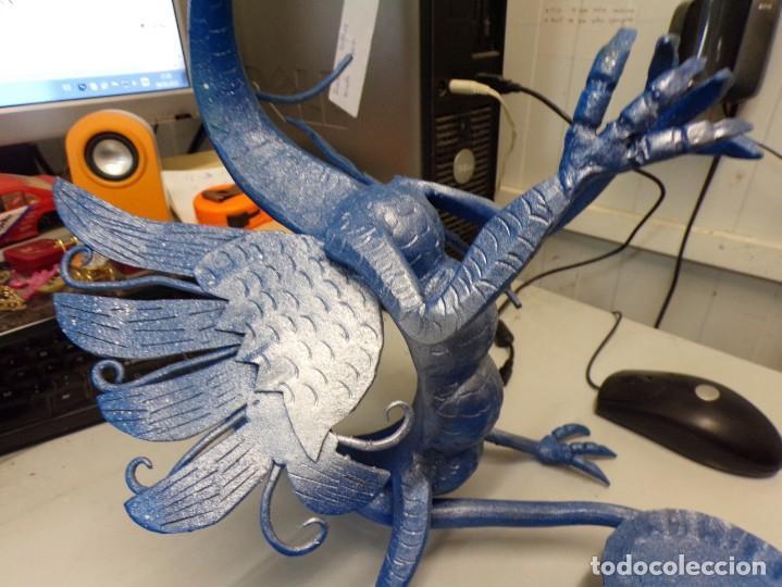 Arte: escultura dragon de buen tamaño de hierro forjado, muy trabajado , 37 cm alto - Foto 3 - 262087915