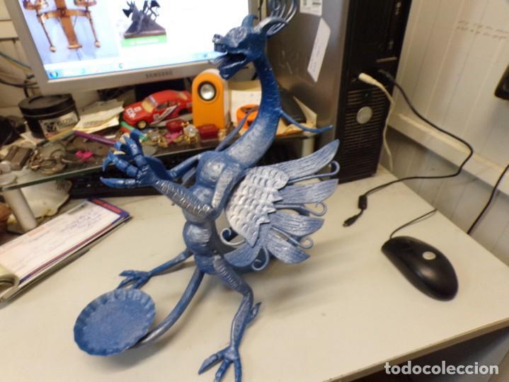 Arte: escultura dragon de buen tamaño de hierro forjado, muy trabajado , 37 cm alto - Foto 8 - 262087915