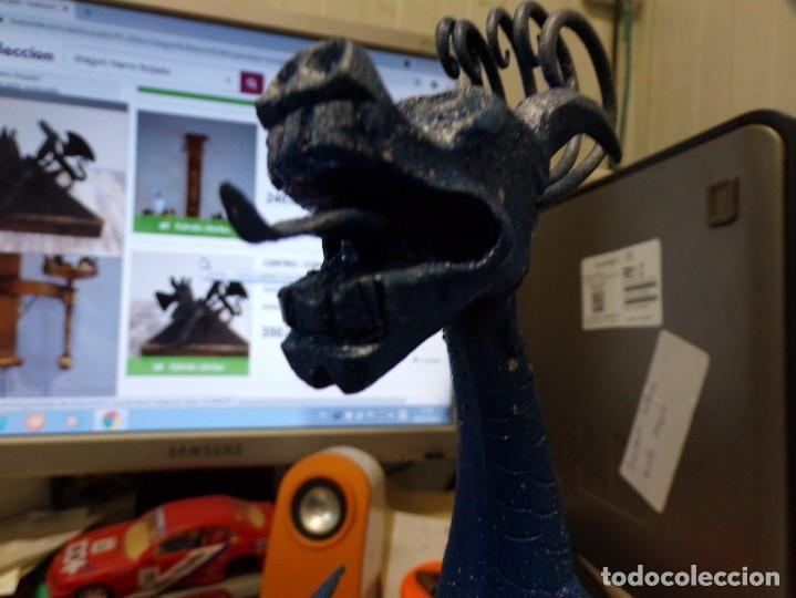 Arte: escultura dragon de buen tamaño de hierro forjado, muy trabajado , 37 cm alto - Foto 12 - 262087915