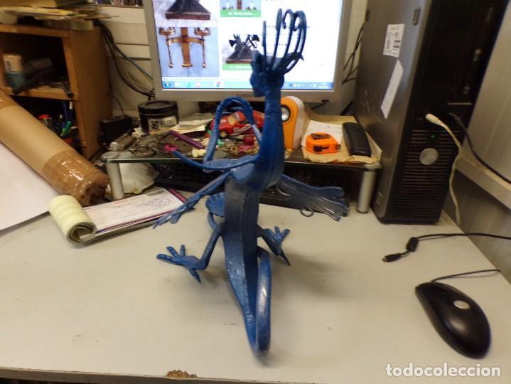 Arte: escultura dragon de buen tamaño de hierro forjado, muy trabajado , 37 cm alto - Foto 13 - 262087915