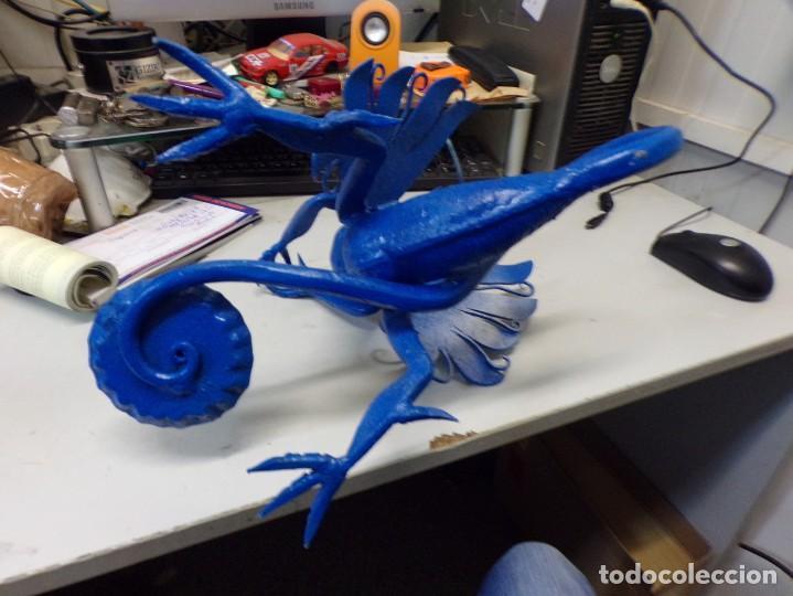Arte: escultura dragon de buen tamaño de hierro forjado, muy trabajado , 37 cm alto - Foto 14 - 262087915