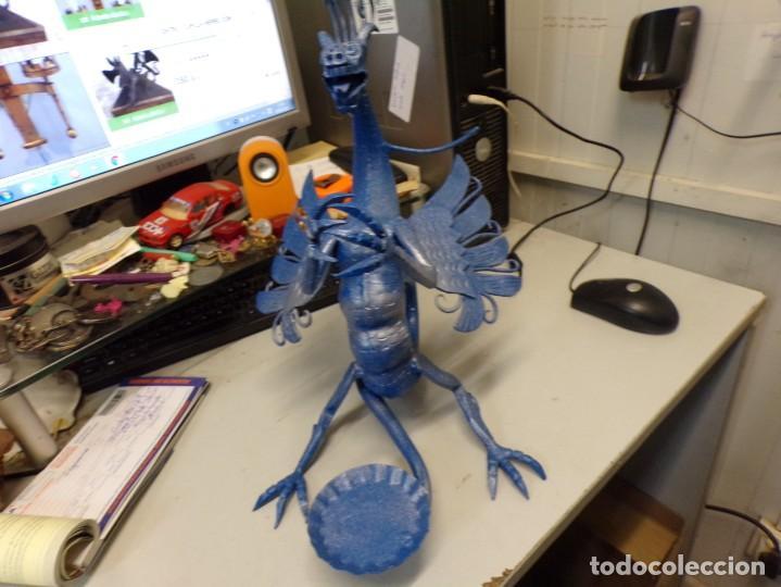 Arte: escultura dragon de buen tamaño de hierro forjado, muy trabajado , 37 cm alto - Foto 17 - 262087915