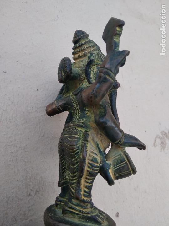 Arte: Preciosa y antigua figura de bronce de Ganesha hija de Shiva. Vitrina central - Foto 4 - 262369115