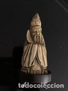 MAGNÍFICO NETSUKE DE SABIO ANCIANO EN MARFIL. FINALES DEL S. XIX PRINCIPIOS DEL S. XX. (Arte - Escultura - Marfil)