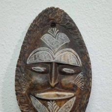 Arte: MASCARA ANTIGUA DE ARTE AZTECA EN PIEDRA TALLADA A MANO. Lote 262965285