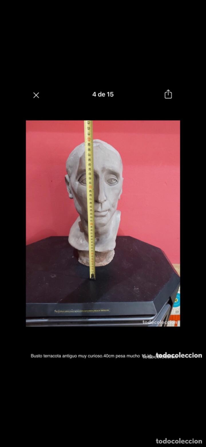 Arte: Busto terracota antiguo muy curioso.40cm pesa mucho 15 kg . Ver fotos - Foto 4 - 263645405