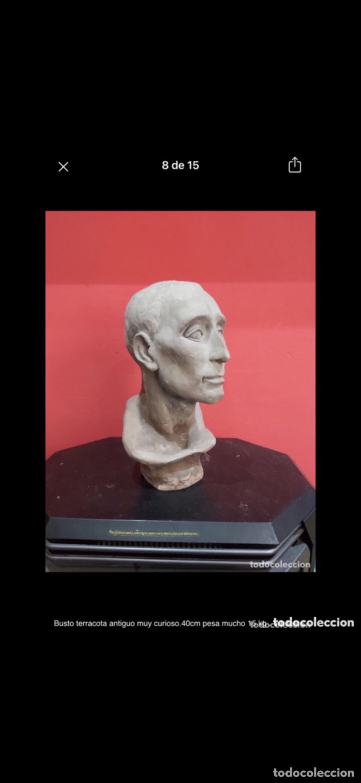 Arte: Busto terracota antiguo muy curioso.40cm pesa mucho 15 kg . Ver fotos - Foto 6 - 263645405