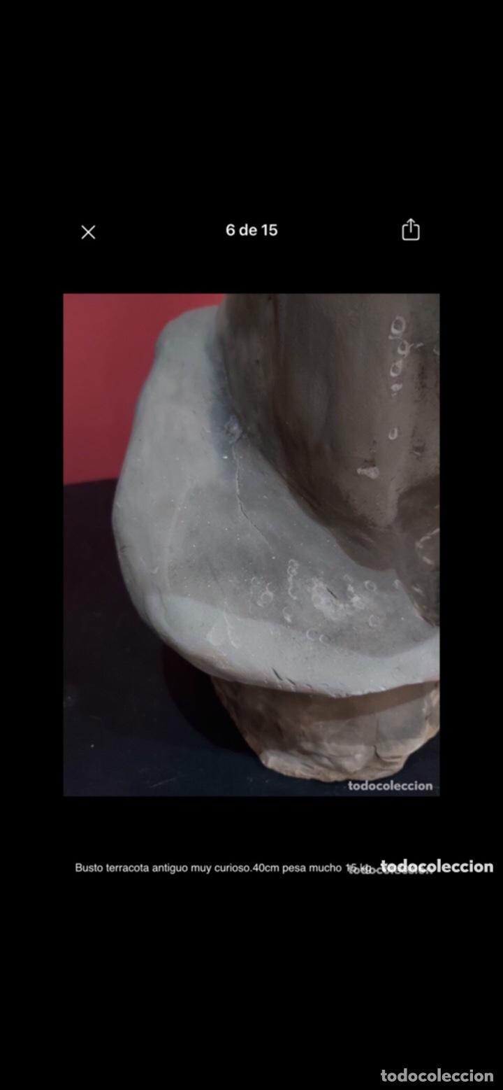 Arte: Busto terracota antiguo muy curioso.40cm pesa mucho 15 kg . Ver fotos - Foto 7 - 263645405