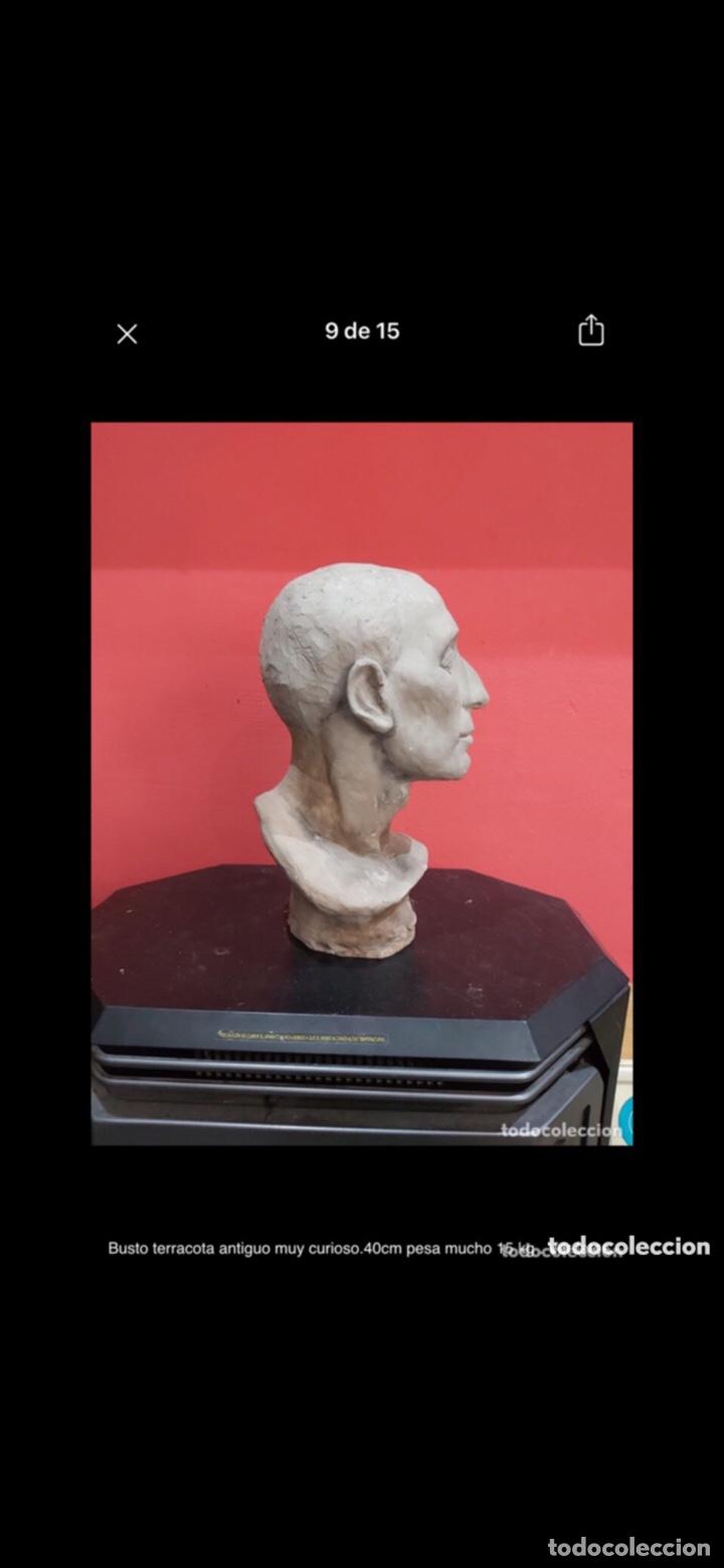 Arte: Busto terracota antiguo muy curioso.40cm pesa mucho 15 kg . Ver fotos - Foto 8 - 263645405