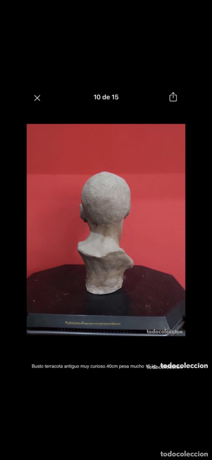 Arte: Busto terracota antiguo muy curioso.40cm pesa mucho 15 kg . Ver fotos - Foto 9 - 263645405