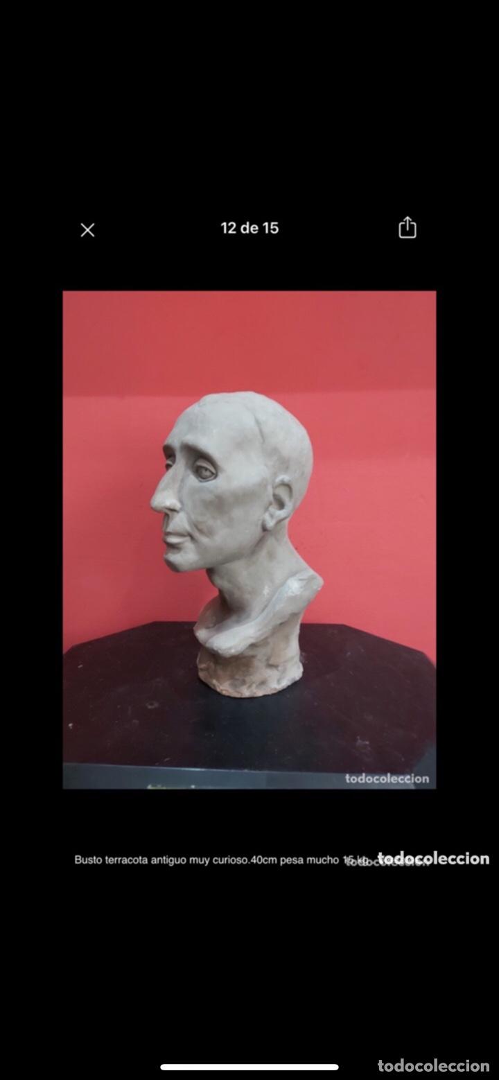 Arte: Busto terracota antiguo muy curioso.40cm pesa mucho 15 kg . Ver fotos - Foto 11 - 263645405