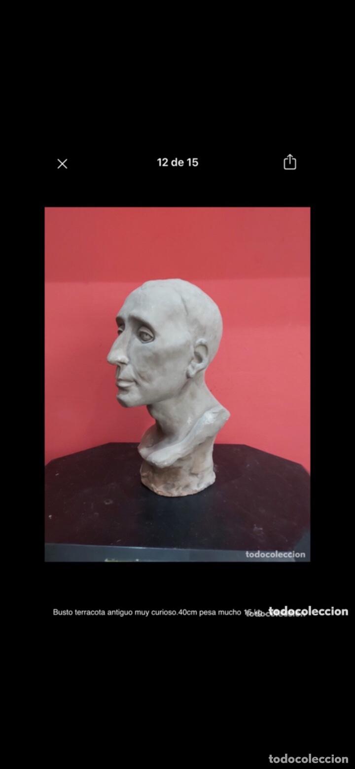 Arte: Busto terracota antiguo muy curioso.40cm pesa mucho 15 kg . Ver fotos - Foto 12 - 263645405