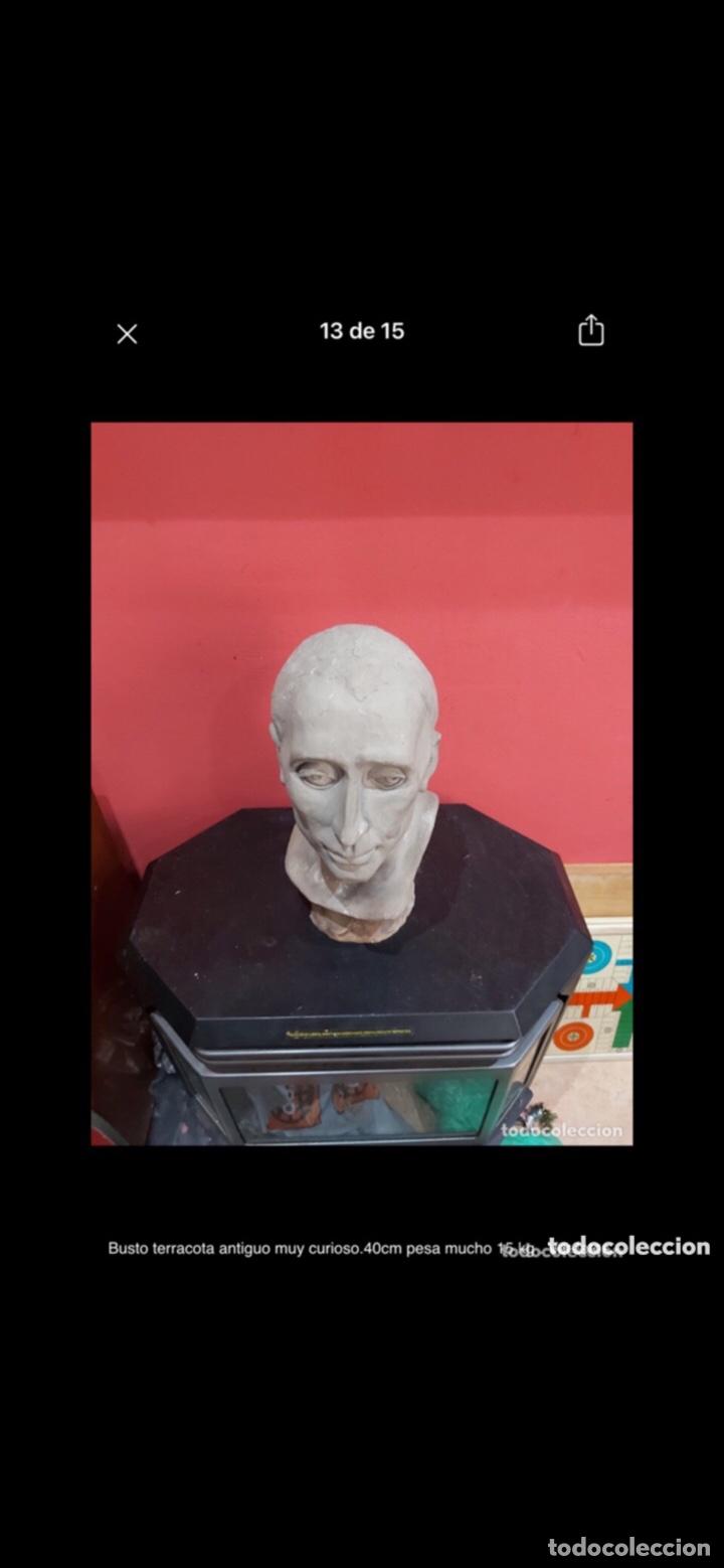 Arte: Busto terracota antiguo muy curioso.40cm pesa mucho 15 kg . Ver fotos - Foto 13 - 263645405