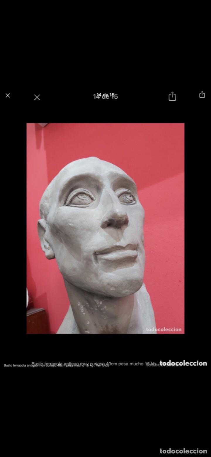 Arte: Busto terracota antiguo muy curioso.40cm pesa mucho 15 kg . Ver fotos - Foto 14 - 263645405