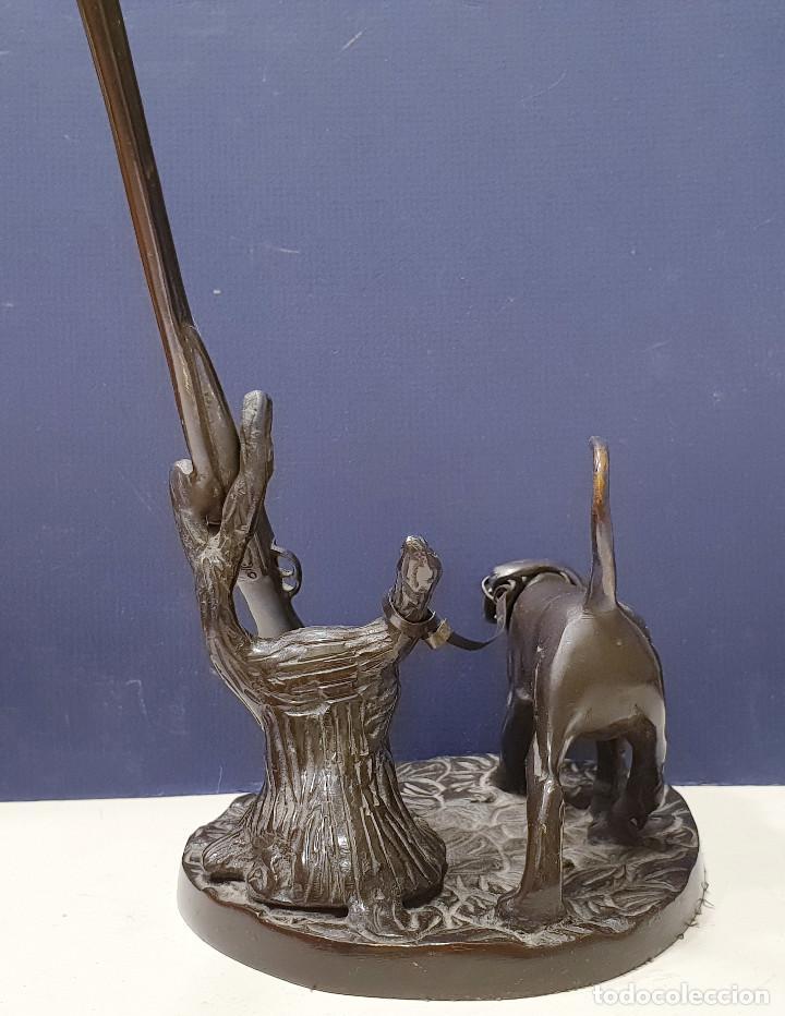 Arte: Perro cazador de bronce con escopeta de caza. - Foto 8 - 264573894