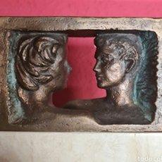 Arte: CIÓ ABELLÍ (GIRONA 1963) PRECIOSA ESCULTURA DE BRONCE Y MÁRMOL, FIRMADA.. Lote 264682409