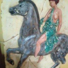 Arte: REPRESENTACION DE AMAZONA GRIEGA BAJO RELIEVE. Lote 264987264