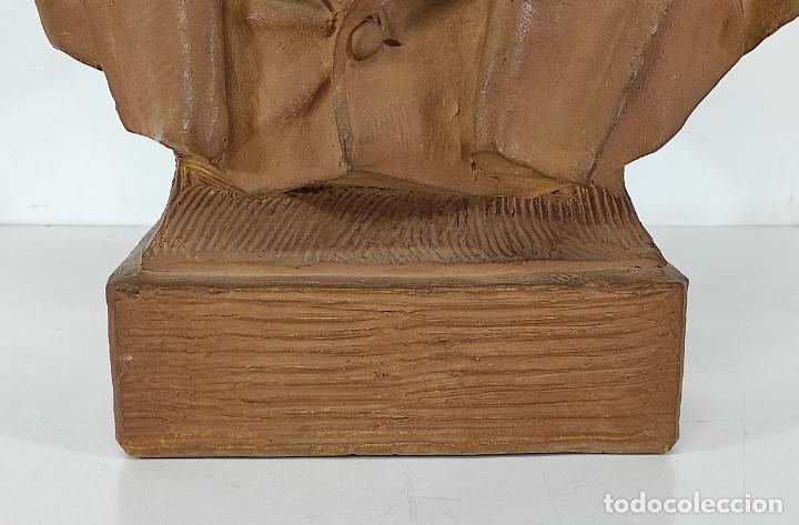 Arte: Miguel Blay y Fábrega (Olot 1866 - Madrid 1936) - Escultura, Busto Narcís Fages de Romà - Firma 1887 - Foto 2 - 265405939