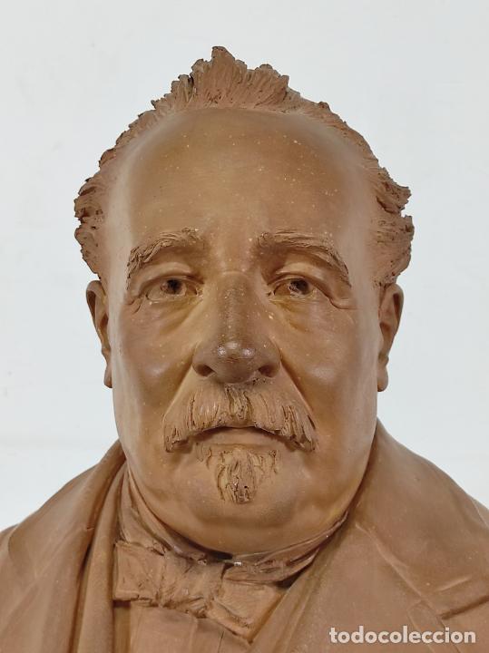 Arte: Miguel Blay y Fábrega (Olot 1866 - Madrid 1936) - Escultura, Busto Narcís Fages de Romà - Firma 1887 - Foto 5 - 265405939