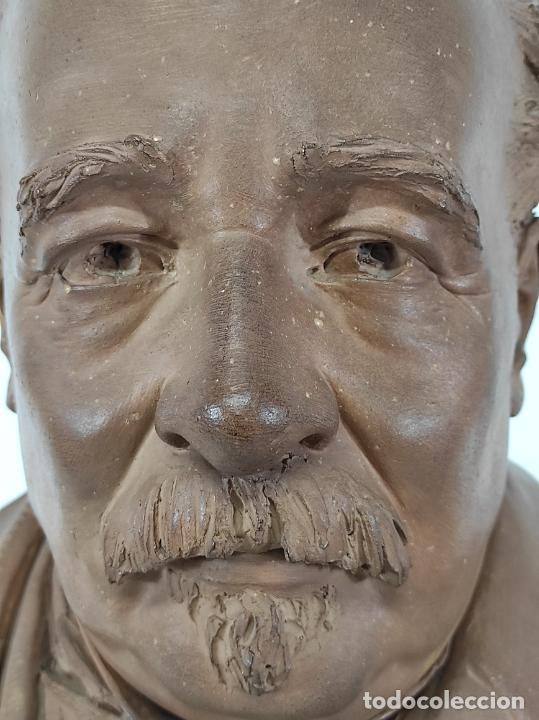Arte: Miguel Blay y Fábrega (Olot 1866 - Madrid 1936) - Escultura, Busto Narcís Fages de Romà - Firma 1887 - Foto 6 - 265405939