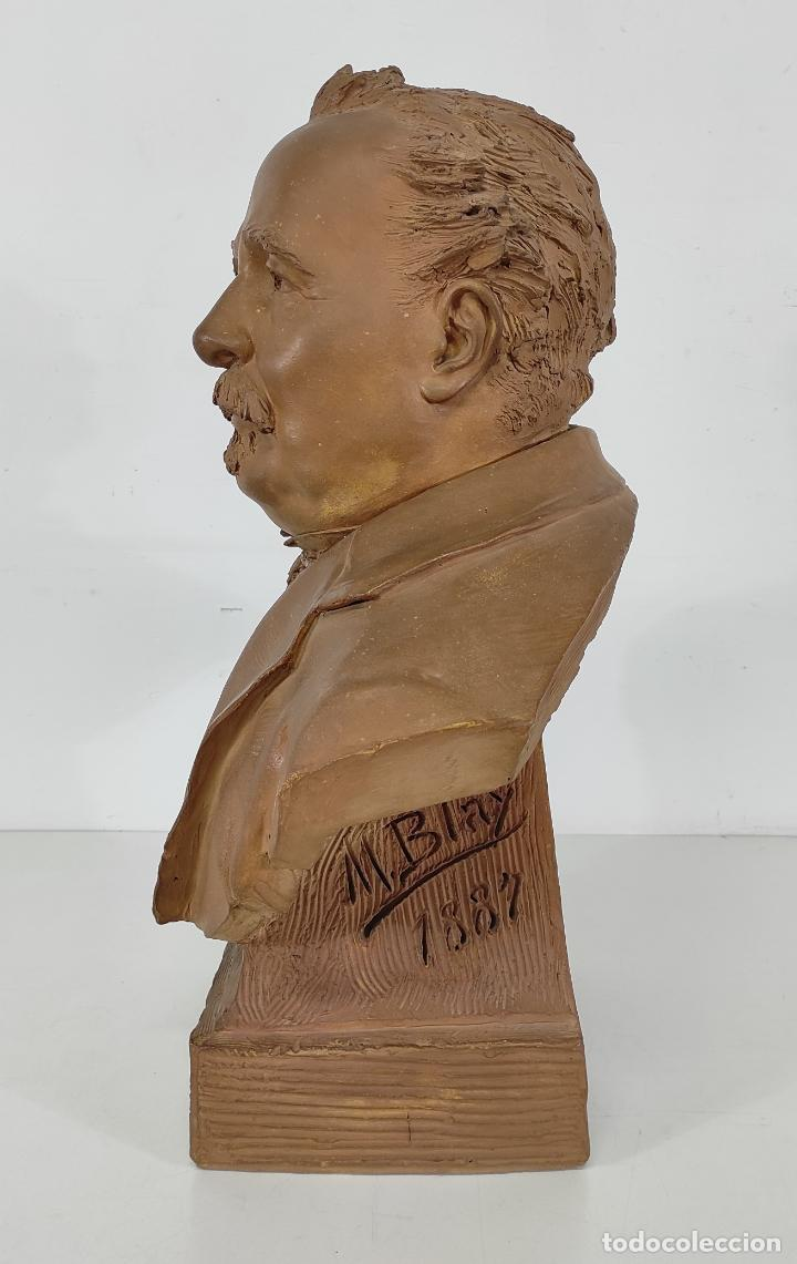 Arte: Miguel Blay y Fábrega (Olot 1866 - Madrid 1936) - Escultura, Busto Narcís Fages de Romà - Firma 1887 - Foto 11 - 265405939