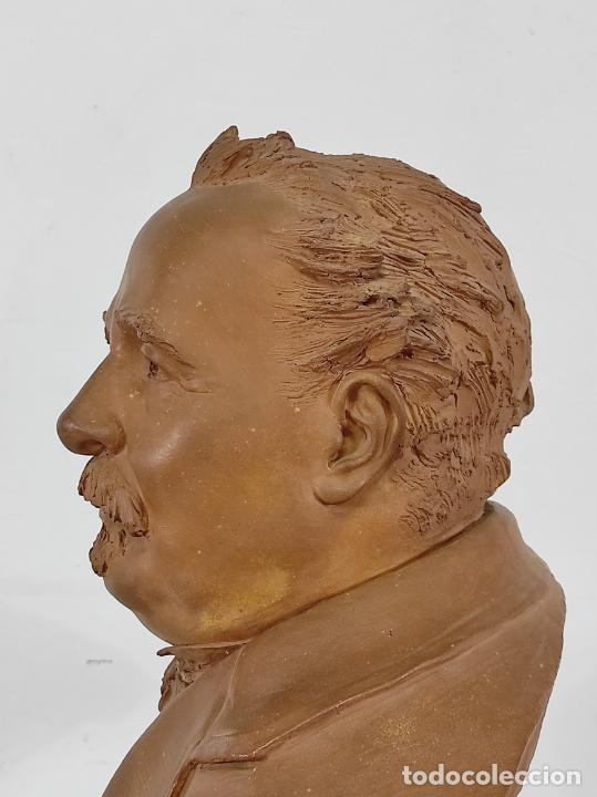 Arte: Miguel Blay y Fábrega (Olot 1866 - Madrid 1936) - Escultura, Busto Narcís Fages de Romà - Firma 1887 - Foto 12 - 265405939