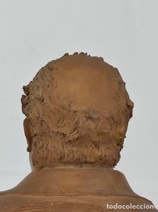 Arte: Miguel Blay y Fábrega (Olot 1866 - Madrid 1936) - Escultura, Busto Narcís Fages de Romà - Firma 1887 - Foto 17 - 265405939