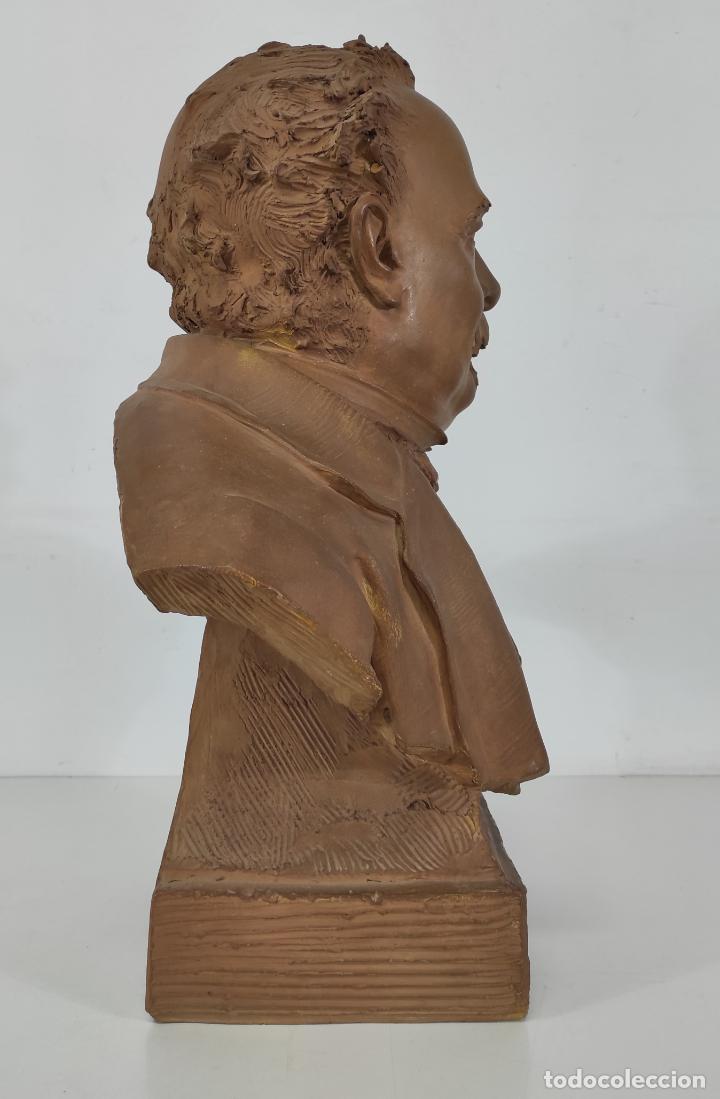 Arte: Miguel Blay y Fábrega (Olot 1866 - Madrid 1936) - Escultura, Busto Narcís Fages de Romà - Firma 1887 - Foto 18 - 265405939