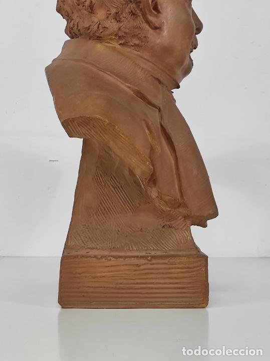 Arte: Miguel Blay y Fábrega (Olot 1866 - Madrid 1936) - Escultura, Busto Narcís Fages de Romà - Firma 1887 - Foto 19 - 265405939