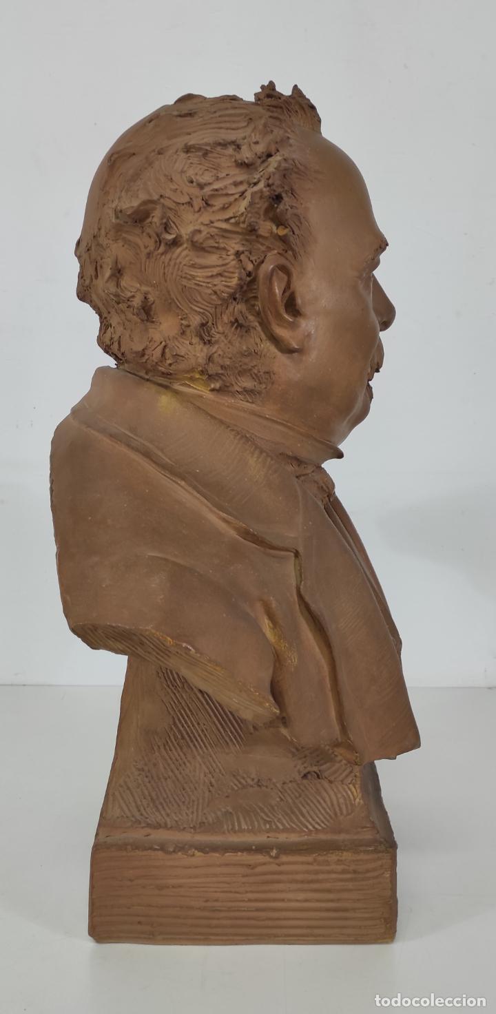 Arte: Miguel Blay y Fábrega (Olot 1866 - Madrid 1936) - Escultura, Busto Narcís Fages de Romà - Firma 1887 - Foto 20 - 265405939