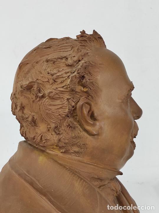 Arte: Miguel Blay y Fábrega (Olot 1866 - Madrid 1936) - Escultura, Busto Narcís Fages de Romà - Firma 1887 - Foto 21 - 265405939