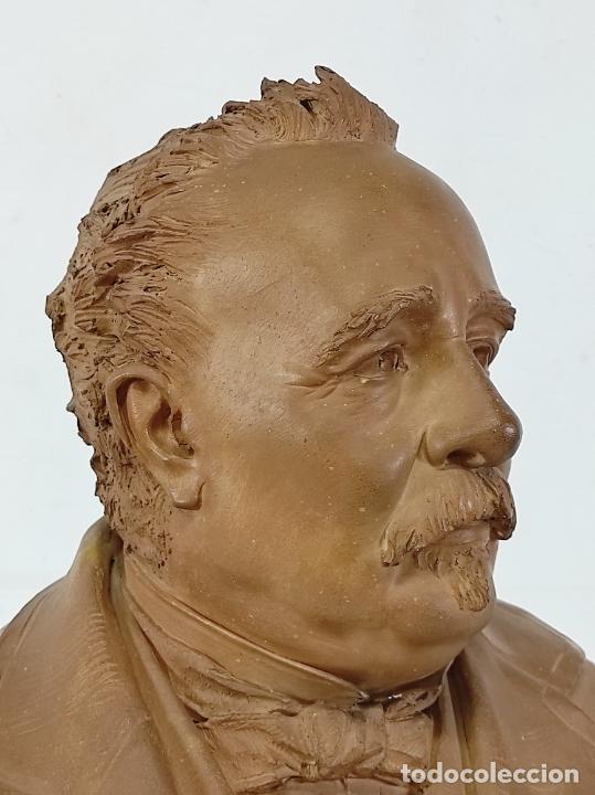 Arte: Miguel Blay y Fábrega (Olot 1866 - Madrid 1936) - Escultura, Busto Narcís Fages de Romà - Firma 1887 - Foto 23 - 265405939