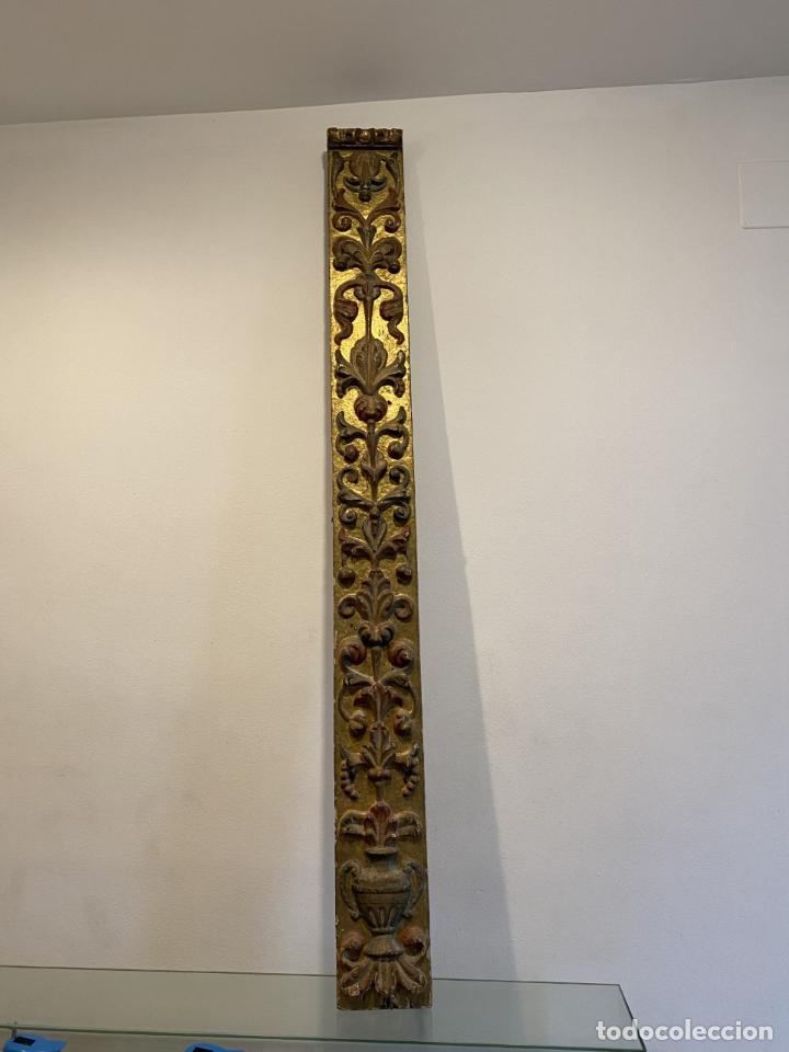 PILASTRA, RENACIMIENTO, SEGUNDA MITAD DEL SIGLO XVI. (Arte - Escultura - Madera)