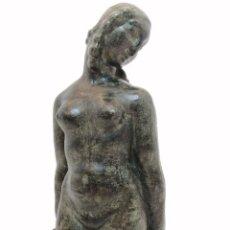 Arte: FIDEL AGUILAR, (TERRACOTA), VENUS DE GIRONA, (QUART), SELLO EN LA BASE, (32 CM. ALTURA). Lote 267610774