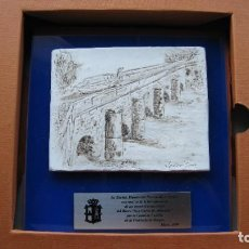 Arte: ESCULTURA RELIEVE SOBRE LAMINA PETREA DEL FAMOSO ESCULTOR JAVIER SANZ DEL CANAL DE CASTILLA ENCARGA. Lote 268930884