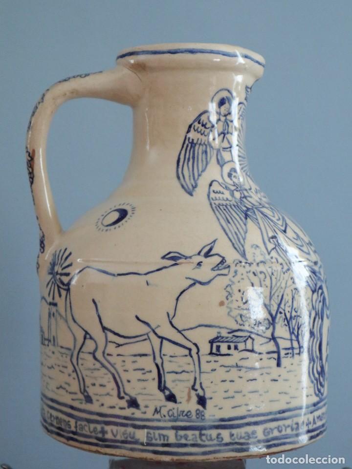 Arte: Martín Cifre (Palma de Mallorca 1940-2009). Jarra de cerámica esmaltada. Firmada. Mide 29 cm. - Foto 2 - 269004629