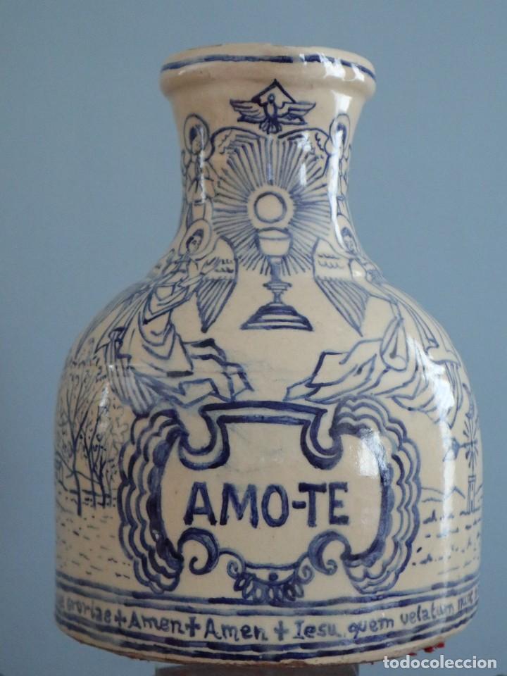 Arte: Martín Cifre (Palma de Mallorca 1940-2009). Jarra de cerámica esmaltada. Firmada. Mide 29 cm. - Foto 3 - 269004629