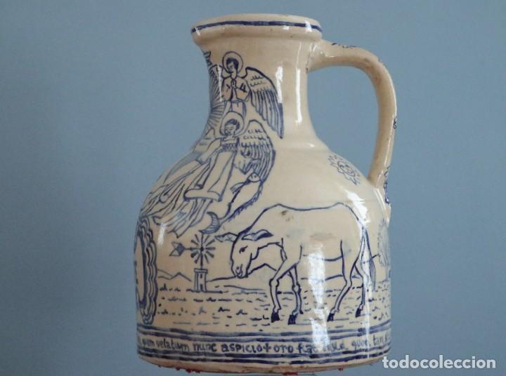 Arte: Martín Cifre (Palma de Mallorca 1940-2009). Jarra de cerámica esmaltada. Firmada. Mide 29 cm. - Foto 4 - 269004629