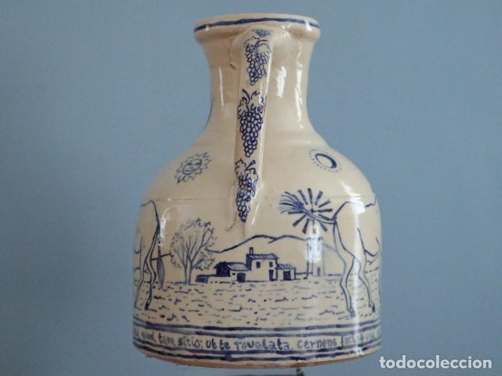 Arte: Martín Cifre (Palma de Mallorca 1940-2009). Jarra de cerámica esmaltada. Firmada. Mide 29 cm. - Foto 5 - 269004629
