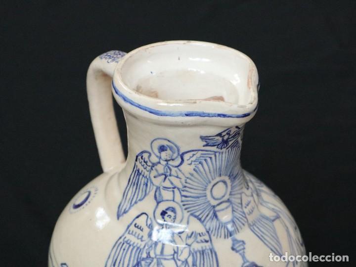 Arte: Martín Cifre (Palma de Mallorca 1940-2009). Jarra de cerámica esmaltada. Firmada. Mide 29 cm. - Foto 6 - 269004629