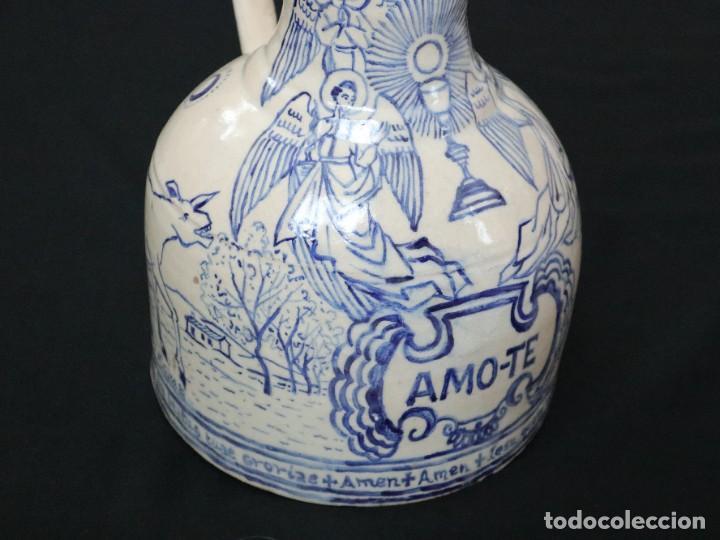 Arte: Martín Cifre (Palma de Mallorca 1940-2009). Jarra de cerámica esmaltada. Firmada. Mide 29 cm. - Foto 7 - 269004629