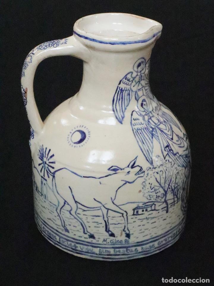 Arte: Martín Cifre (Palma de Mallorca 1940-2009). Jarra de cerámica esmaltada. Firmada. Mide 29 cm. - Foto 8 - 269004629