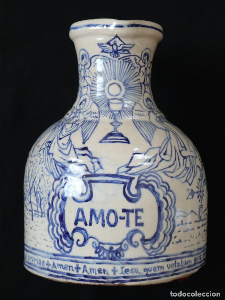 Arte: Martín Cifre (Palma de Mallorca 1940-2009). Jarra de cerámica esmaltada. Firmada. Mide 29 cm. - Foto 9 - 269004629