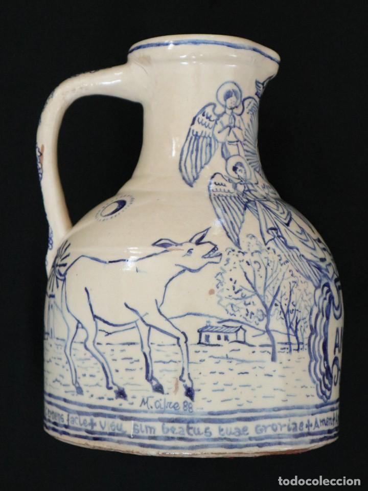 Arte: Martín Cifre (Palma de Mallorca 1940-2009). Jarra de cerámica esmaltada. Firmada. Mide 29 cm. - Foto 11 - 269004629